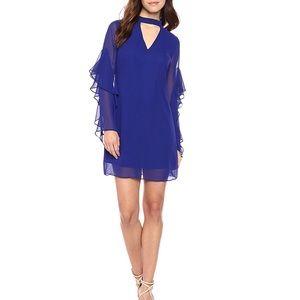Sam Edelman Royal Blue Choker Shift Dress